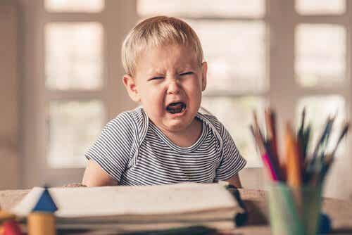 Skälen till att barn får vredesutbrott