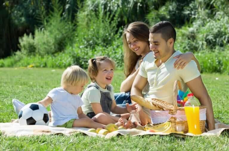 var en rolig mamma: på picnic