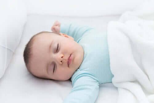 Plötslig spädbarnsdöd: sovande baby