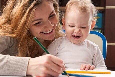 Lär dig mer om utvecklingen av barns skrivförmåga