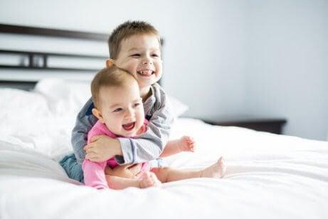 barn med delat sovrum