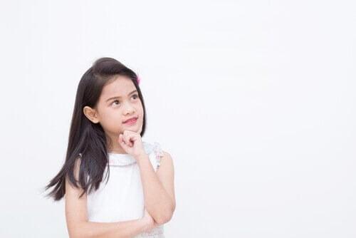 Barns intuition: flicka tänker