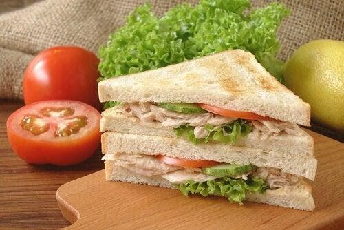 proteinrika recept för graviditetens andra trimester: smörgås