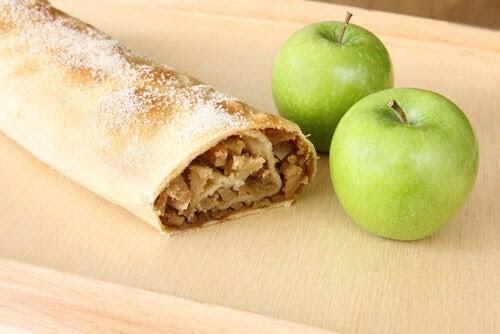 glutenfria recept: äppelpaj och äpplen