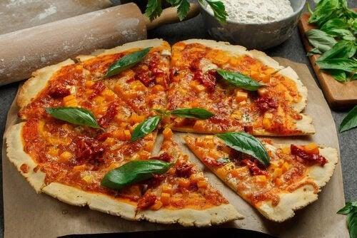 glutenfria recept för graviditetens första trimester: pizza