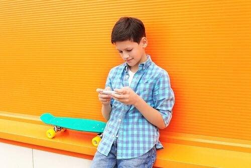 Användning av WhatsApp bland barn