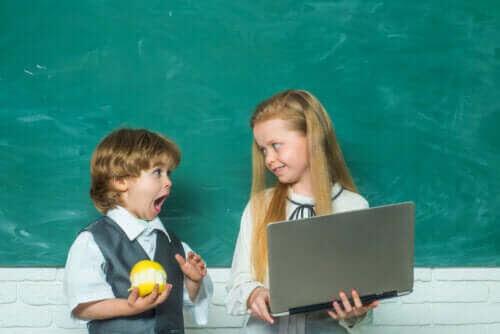 barn som är redo att börja skolan