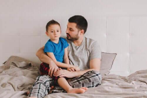förbättra talfel: pappa och barn