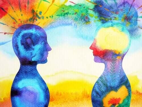 känslomässiga konsekvenserna av en separation: illustration av två människor