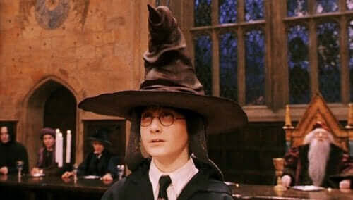 Harry Potter med hatt