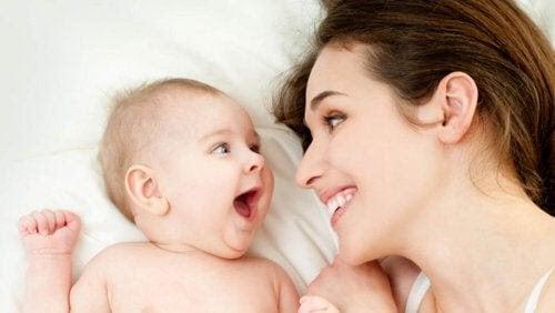 mamma och baby