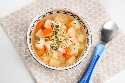 soppa med allt i en gryta