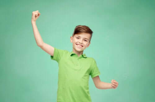 personliga styrkor: pojke i grön tröja