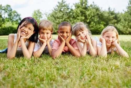 Ferrières progressiva utbildning; barn utomhus