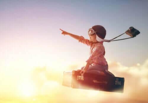 ditt barns frihet: barn flyger på flygande matta