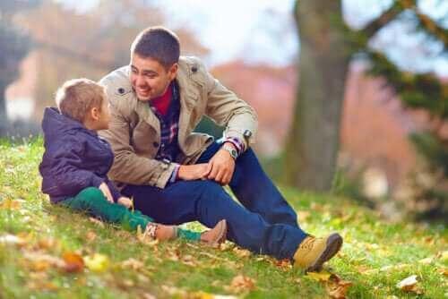 En pappa och hans son kan prata om svåra saker.