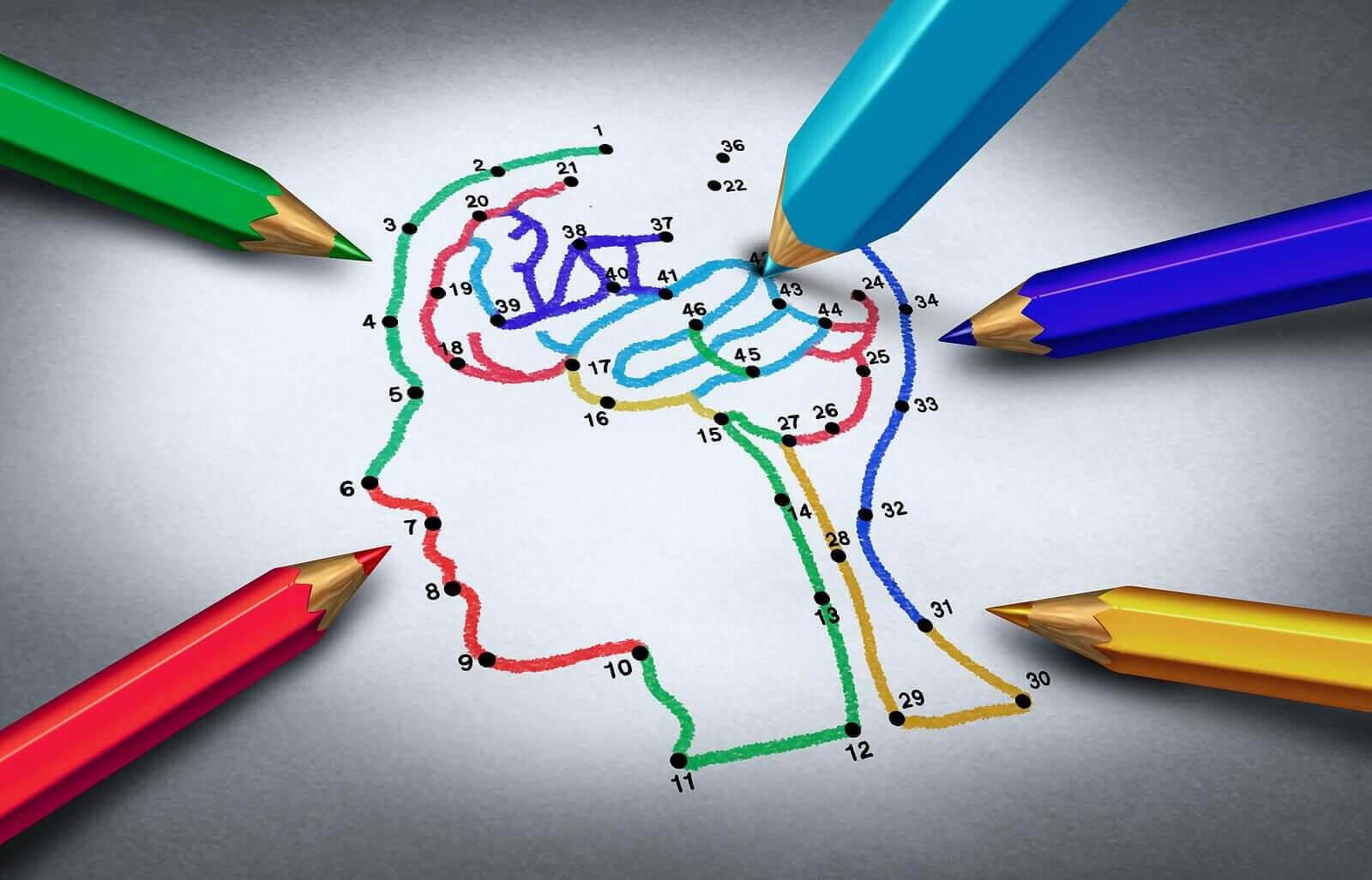 med papper och penna: rita mellan nummer