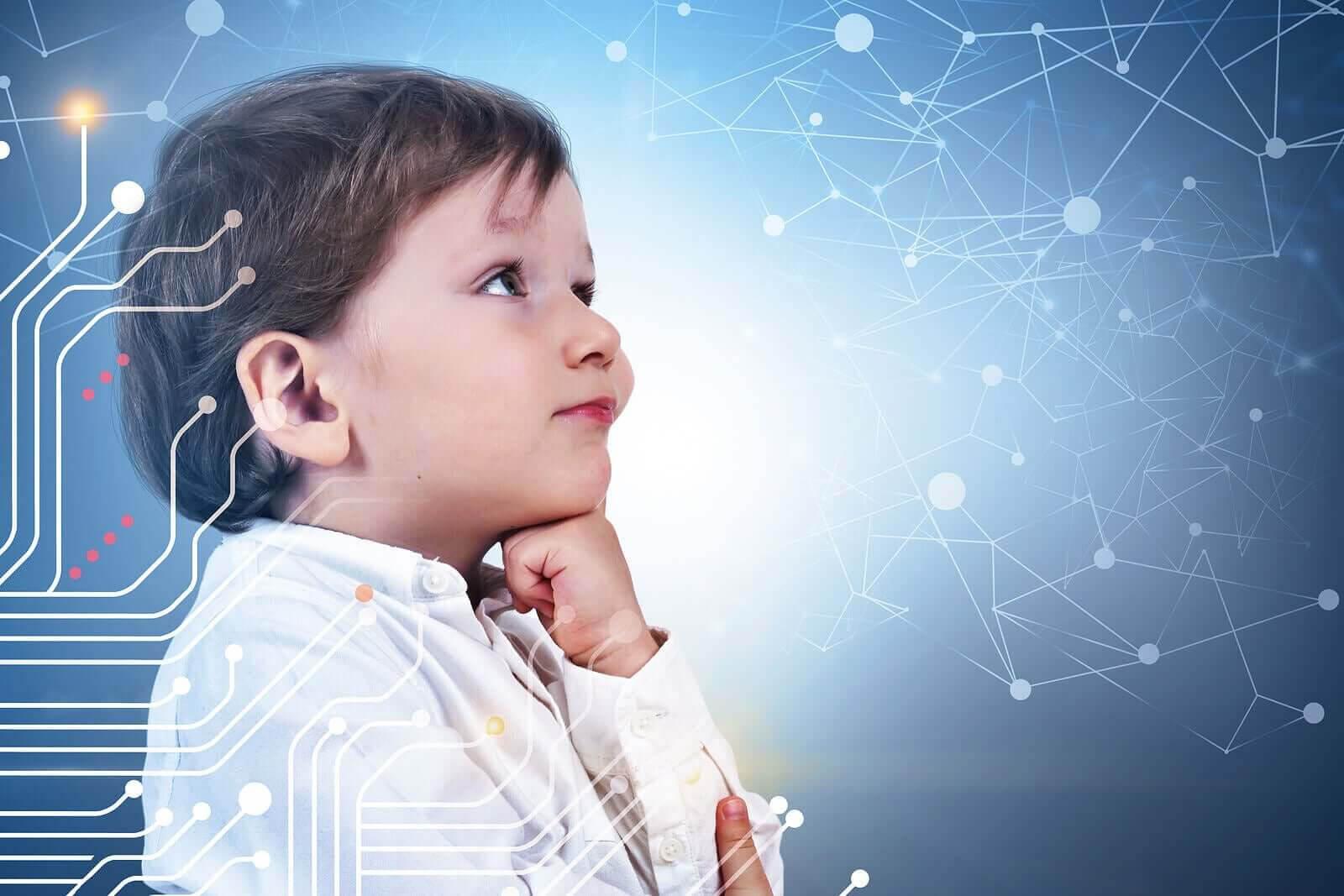 vetenskapligt tänkande hos barn: barn tittar på nätverk