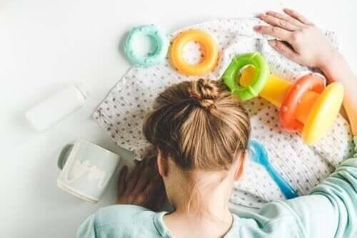den fjärde trimestern: trött mamma