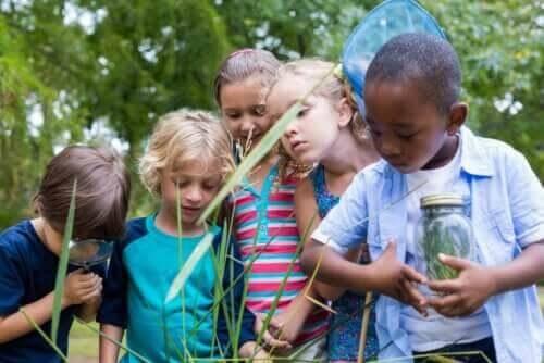 utbildning enligt Zygmunt Bauman: barn utomhus
