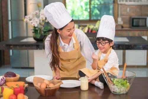 Matlagningsaktiviteter för barn i åldern 3 till 6 år