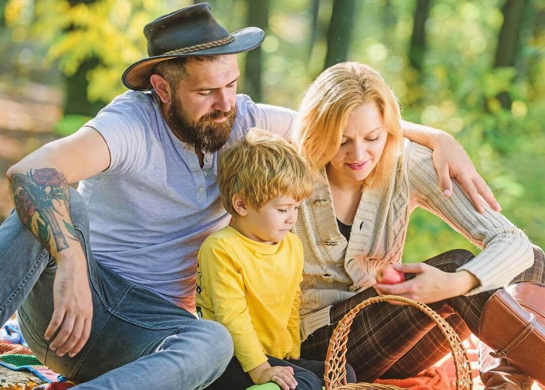 picknick med hela familjen