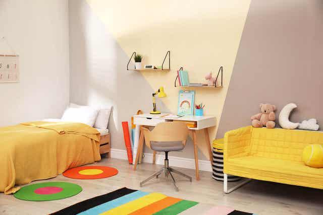 Barnrum med design.