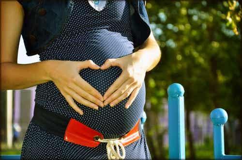 att föda barn: gravid kvinna