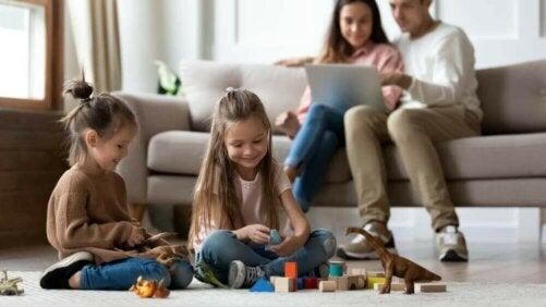 Olika familjetyper efter deras grad av sammanhållning