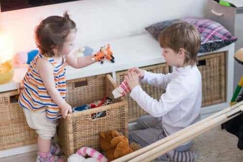 leken som en teknik: barn leker