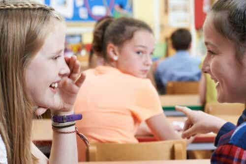 barn viskar i klass